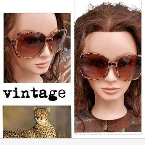 Vintage  rhinestone cheetah sunglasses